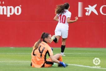 Inma Gabarro hizo los dos primeros goles del partido. LaLiga