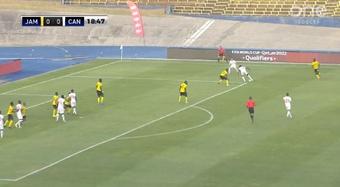 Jamaica y Canadá empataron en la quinta fecha del octagonal de la CONCACAF. Captura/ONESoccer