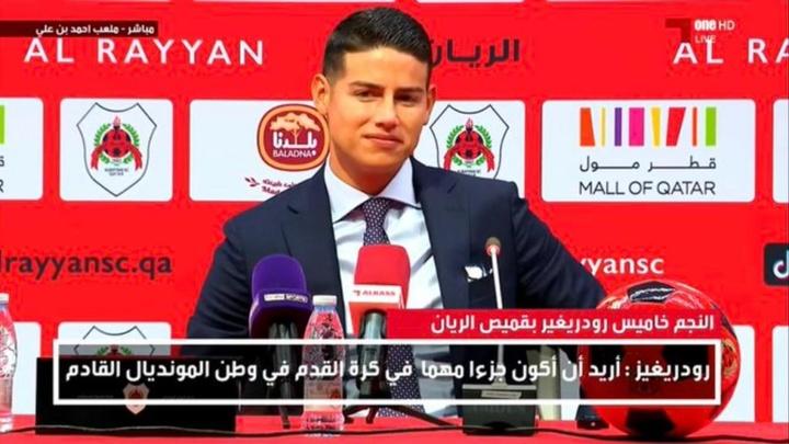 James presentato dall'Al Rayyan. OneTV