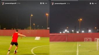 James presumió de puntería en Catar. Capturas/Instagram/jamesrodriguez10