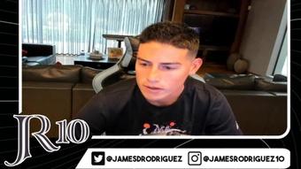 James volvió a apoyar a Colombia en su canal de Twitch. Captura/Twitch/james1222