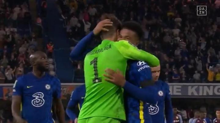 El Chelsea se aferra a la Copa de la Liga desde los once metros. Captura/DAZN