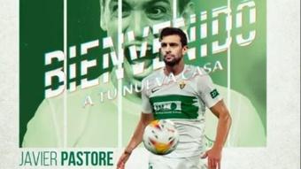 Javier Pastore assina pelo Elche. Captura/Twitter/elchecf