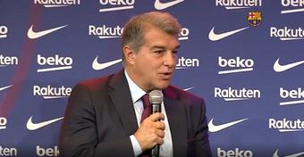Laporta réussit à confondre Pedri et Messi. Captura/BarçaTV