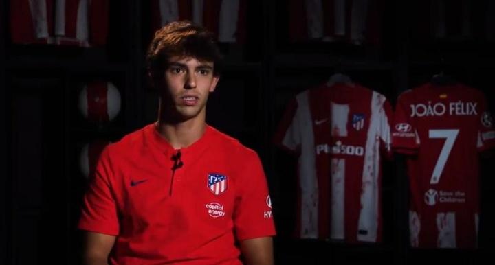 Joao Félix habló en la previa del Atlético-Oporto. Twitter/Atleti