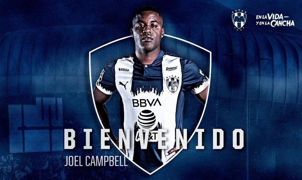 Joel Campbell, nuevo jugador de Rayados de Monterrey. Twitter/Rayados