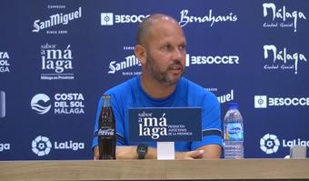 José Alberto valoró al Zaragoza. Captura/MalagaCF