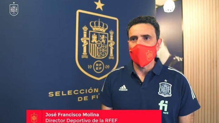 Molina a expliqué la convocation des six nouveaux joueurs. Capture d'écran/RFEF