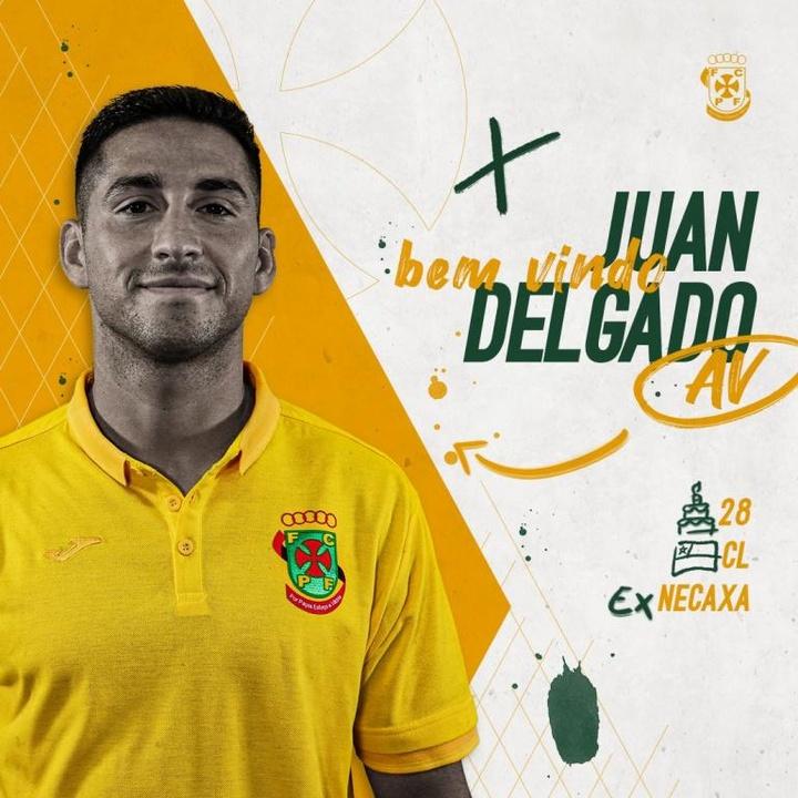 El Paços de Ferreira se refuerza con Juan Delgado. Twitter/FCPF