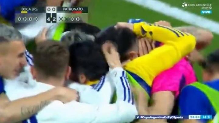 Boca se metió en semifinales en los penaltis. Captura/TyCSports