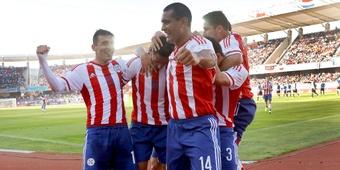 Jugadores de Paraguay, durante un partido. Twitter.