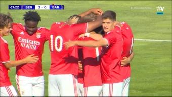El Barça se inmola ante el Benfica en 12 minutos para el olvido. Captura/Vamos