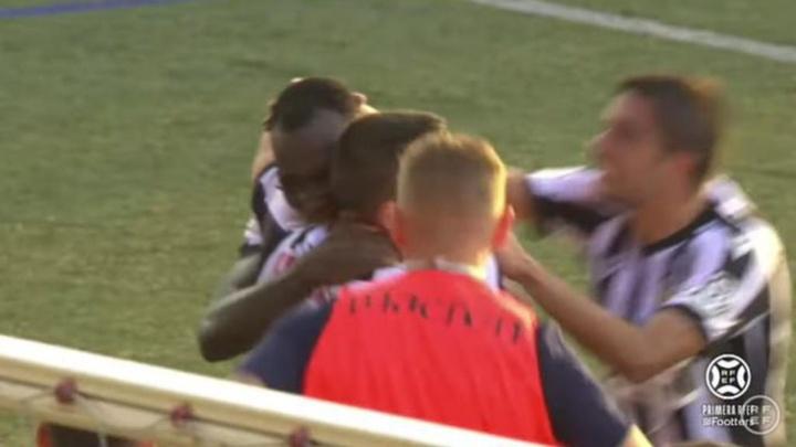 El Castellón consiguió el empate en el 89'. Captura/Footters