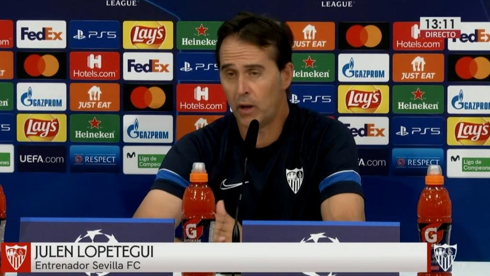 Lopetegui destacó la continuidad del Salzburgo. Captura/SevillaFC