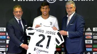 Kaio Jorge se mostró ilusionado en su presentación. Captura/JuventusFC