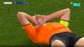 Krivtsov scored an own goal v Real Madrid. Screenshot/MovistarLigadeCampeones