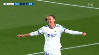El Madrid Femenino ha pasado por encima del Breidablik. Captura/DAZN