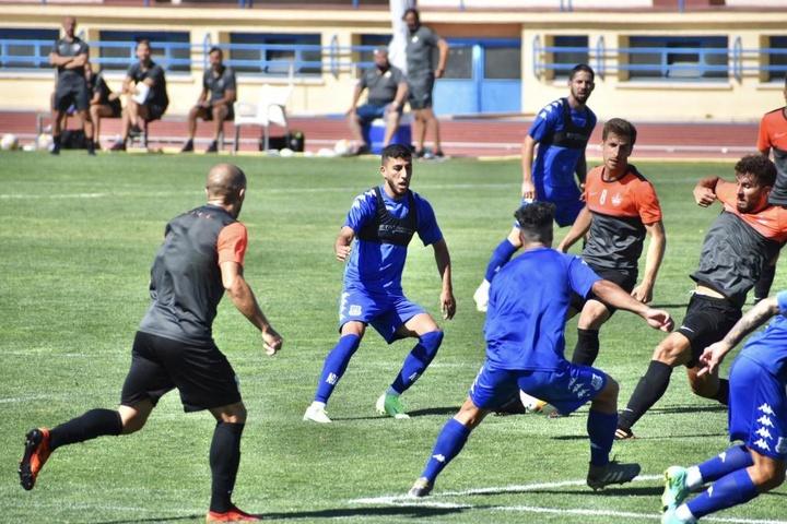 Moyano hizo el único gol del encuentro. Twitter/AD_Alcorcon