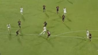 La Salernitana alineó un once muy variado. Captura/Youtube/SerieA
