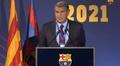 Laporta desveló el plan para salvar al Barça. Captura/BarçaTV