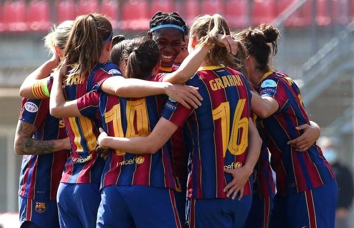 Barcelona e PSG se enfrentarão em uma das semifinais. EFE/EPA/MATTEO BAZZI