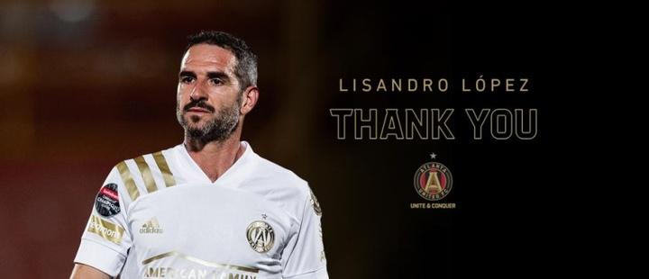 Lisando López rescindió su contrato con el Atlanta United. Twitter/ATLUTD