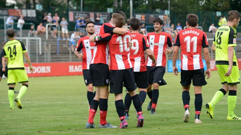 El Athletic remontó en quince minutos un partido que se le había complicado. Twitter/AthleticClub