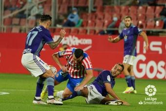 El Valladolid hincó la rodilla en Montilivi. LaLiga