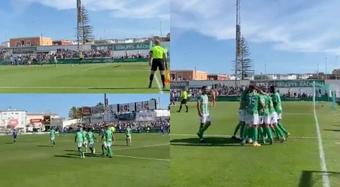 El Atlético Sanluqueño ganó con comodidad. Capturas/AtcoSanluqueno