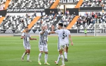 Zelu anotó el tanto de la victoria del Badajoz. CDBadajoz