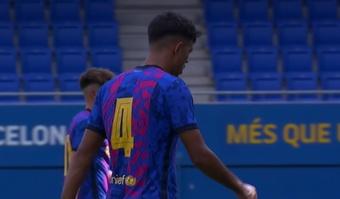 Tablas entre Barça y Dinamo de Kiev en la Youth League. Captura/MovistarLigadeCampeones