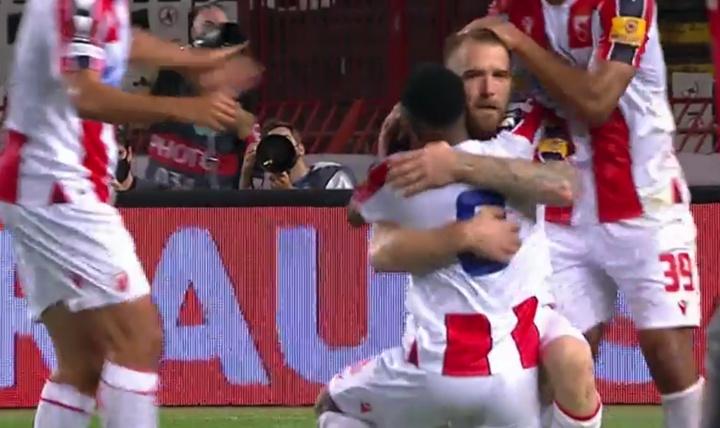 Estrela Vermelha começa a Liga Europa com vitória sobre Braga. Captura/MovistarLigadeCampeones