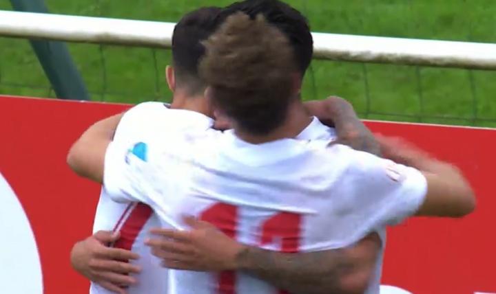 El Sevilla ganó 0-3 al Lille. Captura/MovistarLigadeCampeones