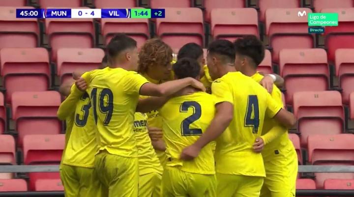 El Villarreal ganó 1-4. Captura/MovistarLigadeCampeones