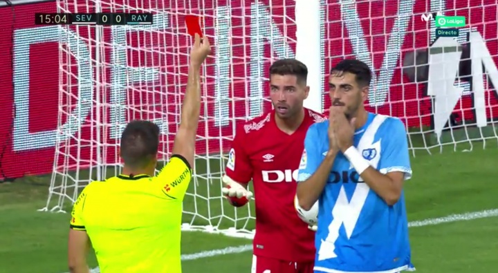 Luca Zidane expulsé après 15 minutes pour son retour en Liga. Capture/Movistar+
