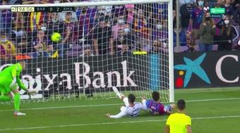 Lucas Vázquez puso el segundo en el Camp Nou. Captura/MovistarLaLiga
