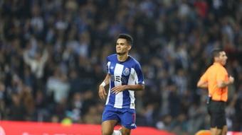 Luis Díaz celebra un gol con el Oporto. EFE