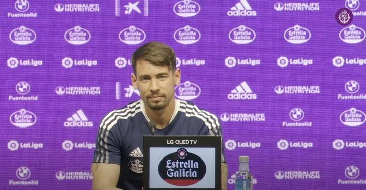 Luis Pérez apuntó al arbitraje en el partido contra la Ponferradina. YouTube/RealValladolidCF