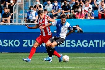 Alavés venceu por 1 a 0 com gol aos 4 minutos de jogo. EFE