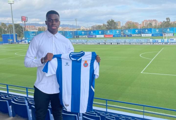 Luka Kameni jugará en el Juvenil B del Espanyol. Twitter/SantistebanEric