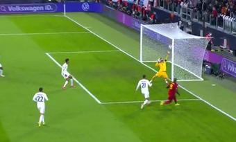 Lloris volvió a regalar su palo: cañonazo de Lukaku para el 2-0. Captura/TVE