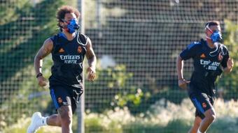 Marcelo e Mendy, prontos para o Shakhtar. RealMadrid