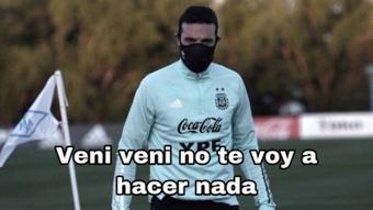 Los mejores memes del Paraguay-Argentina. Twitter/LuquitaRodrigue