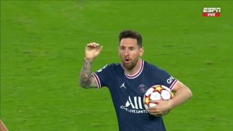 Messi fue el autor del 2-2 del PSG. Captura/ESPN