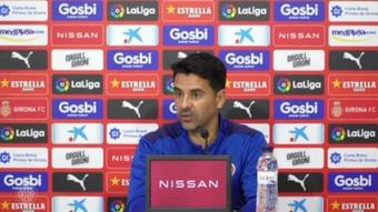 Míchel se responsabilizó de la situación de su equipo. Captura/GironaFC