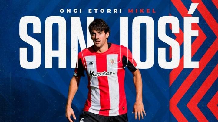San José, uno de los siete fichajes del Amorebieta para Segunda División. Twitter/SDAmorebieta