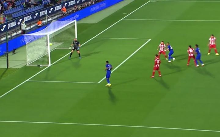 Mitrovic puso el 1-0 para el Getafe. Captura/MovistarLaLiga