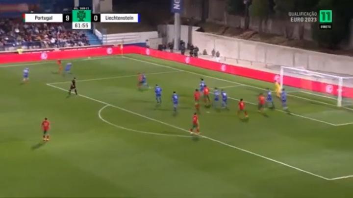 Portugal Sub 21 consiguió una gran victoria por 11-0. Captura/Canal11