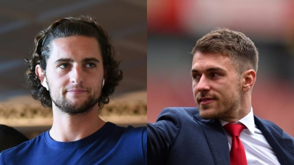 Rabiot and Ramsey, injured parties in Pogba's possible return to Juve. AFP