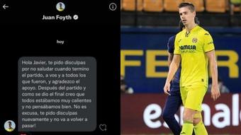Juan Foyth dio un ejemplo de humildad en Twitter. Twitter/javivalle17/AFP